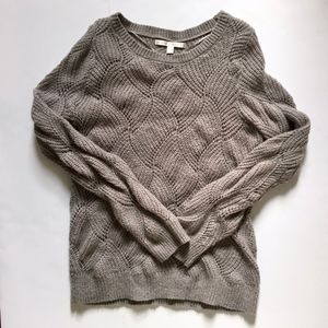 LC Wool Textured Loose Knit Pullover Sweater sz L
